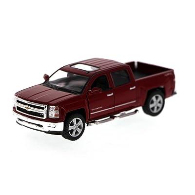 Kinsmart Chevy Silverado (2014) LTZ Crew Cab 4x4 1/46 Scale Diecast Metal Model - RED: Toys & Games