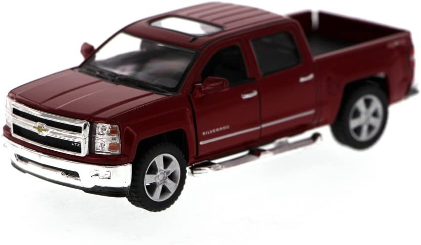 2014 RED Chevy Silverado LTZ Crew Cab 4x4 1//46 Scale Diecast Metal Model