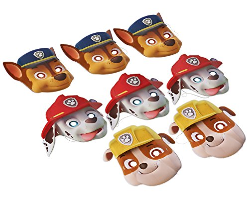 Bag Costume Amazing Man (Amazing Paw Patrol Birthday Party Paper Masks Wearable Favours (8 Pack), Multi Color, 9 1/2