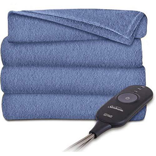 heated electric throw blanket fleece