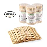 wooden fondue forks - Bamboo Forks 3.5 Inch, Mini Food Picks for Party, Banquet, Buffet, Catering, and Daily Life. Two Prongs - Blunt End Toothpicks for Appetizer, Cocktail, Fruit, Pastry, Dessert. 330 PCS (3 packs of 110)