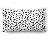 Emvency Pillow Covers Decorative Abstract Geometric Pattern In Retro Memphis Style Fashion Bulk With Zippered 20x36 King Size Pillow Case For Home Bed Couch Sofa Car One Sided