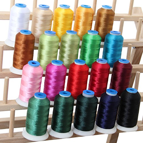 (Threadart 20 Spool Polyester Embroidery Machine Thread Holiday Colors | 1000M Spools 40wt | For Brother Babylock Janome Singer Pfaff Husqvarna Bernina Machines - 10 Sets Available)