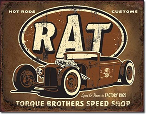TORQUE BROTHERS SPEED SHOP Rat HOT Rod V8 Muscle CAR 12.5