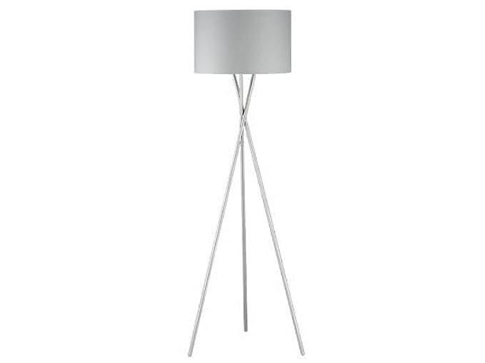 Lámpara de pie de diseño moderna con pantalla de tela gris ...