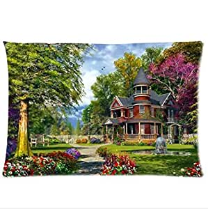 Best Custom Pillowcase,Personalized Summer Garden Design Pillowcase,Twin Sides Pillowcase Pillow Cover 20x30 inches