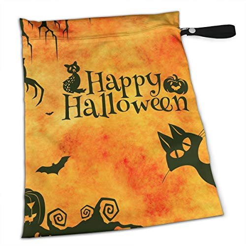 TYITCB Gatto Halloween Waterproof Reusable Snack Bag Large -