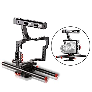 COOCHEER DSLR Rig Camera Video Cage Kit ,Film Movie Video Making With Handle Grip