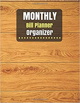 amazon monthly bill planner organizer monthly bill planner for