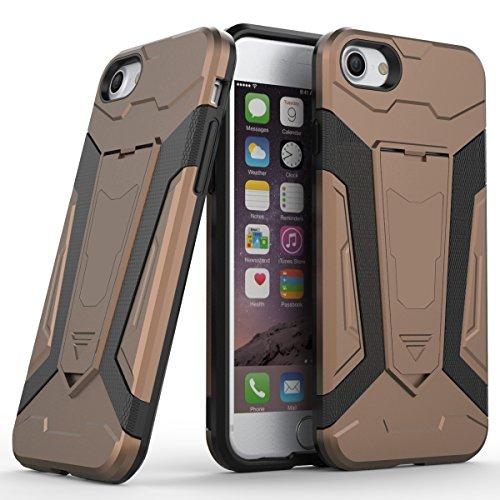 iPhone 7/iPhone 8 Fundas, TOTOOSE TPU+ PC Hybrid teléfono Caso Drop Resistente contra gota antideslizante protección para el iPhone 7/ iPhone 8-Gris cafetería