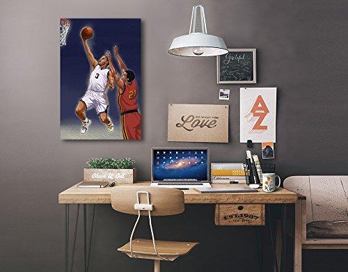Basketball Player (24x36 Gallery Quality Metal Art) by Lantern Press (Image #1)