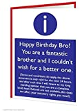 Funny Humorous 'Brother T&Cs' Birthday Greetings Card