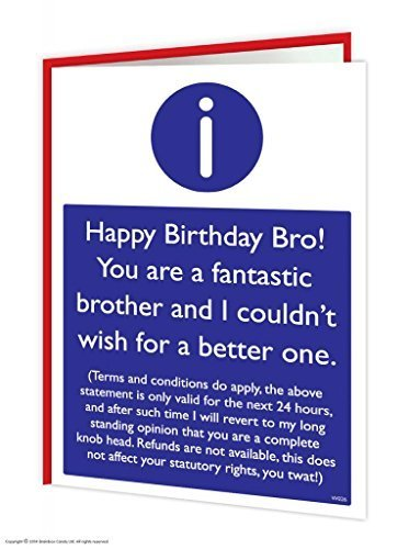 Amazon Brainbox Candy Funny Humorous Brother TCs Birthday