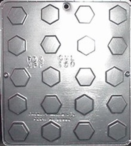 Hexagon Candy (Chocolate Hexagon Piece Chocolate Candy Mold Candy Making 150)