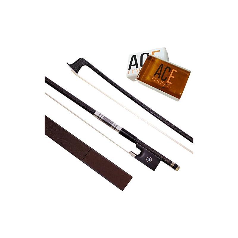 Carbon Fiber Violin Bow 4/4 Full Size Wi
