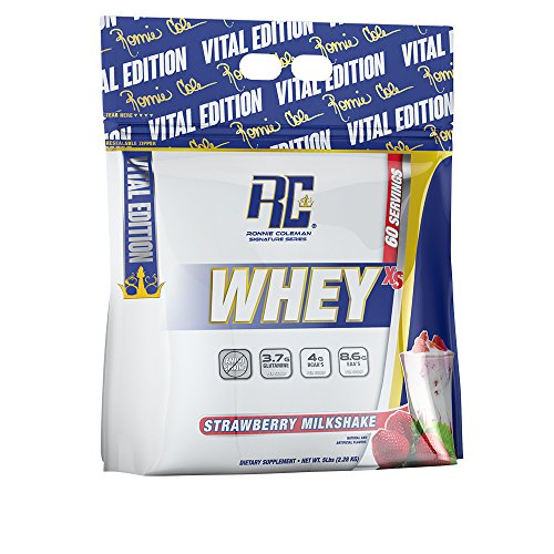 Ronnie Coleman Signature Series Whey XS Protein Powder, Strawberry Milkshake, 82 Ounce