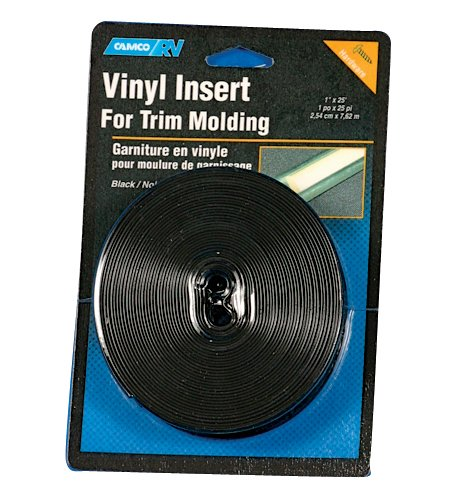 Camco Vinyl Trim Insert with UV Inhibitors for Extended Life - Replace Cracked and Stained RV Trim Inserts (3/4