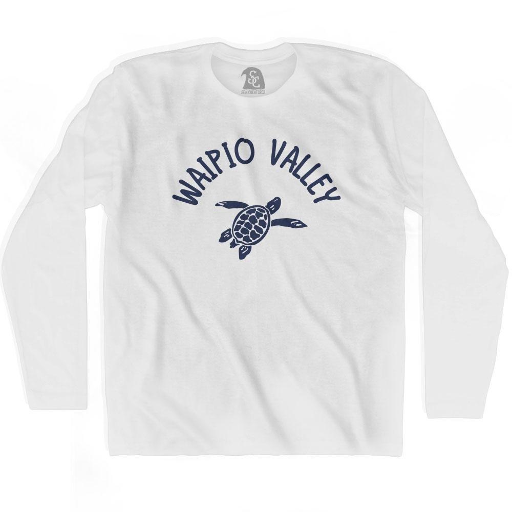 Waipio Valley Beach Sea Turtle Adult Cotton Long Sleeve T-shirt