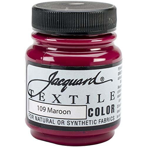 Maroon Wood - Jacquard Products Textile Color Fabric Paint, 2.25-Ounce, Maroon