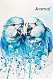 Journal: Blue Birds 6x9 - LINED JOURNAL - Journal with lined pages - (Diary, Notebook) (Birds & Buttterflies Lined Journal...