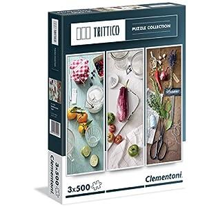 Clementoni 39308 Mediterranean Taste Puzzle Trittico 3x500 Pezzi