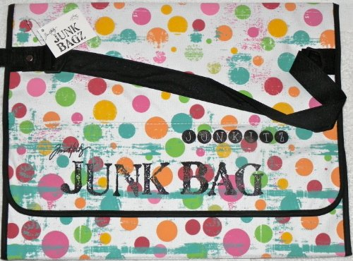 Tim Holtz Junk Bagz Large - Salsa Colors - Dots by Tim Holtz