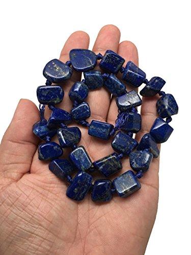 (10mm-17mm, 80.2 Grams, Natural Polished Lapis Lazuli Free Form Bead Strand @Afghanistan 16