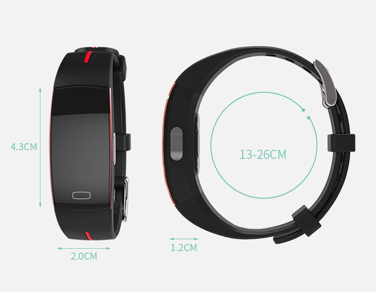 YHDQ P3 braccialetto intelligente PPG+ECG frequenza cardiaca ECG IP67 impermeabile Rosso
