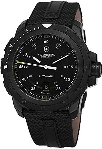 Victorinox Swiss Army Alpnach Mechanical Automatic Black Dial Black Nylon Mens Watch 241685