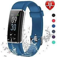 Lintelek Fitness Tracker, Fitness Watch Schermo a Colori Orologio Braccialetto Cardiofrequenzimetro Braccialetto Bluetooth Activity Tracker Impermeabile IP68 per Nuoto, per Uomo Donna