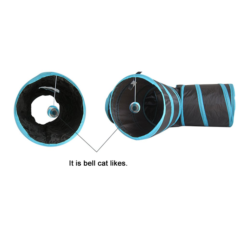 Cat Tunnel(3 Way ). Road Cat Toys Collapsible Tunnel - Premium Tube for Rabbits, Kittens, Large Cats, And Dogs