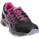 ASICS Women's Gel-Sonoma 3 Trail Runner, Pink Glow/Black/Lavender, 8 M US