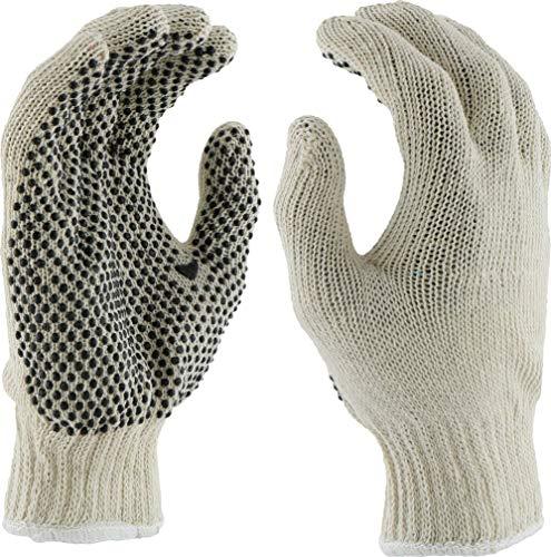 West Chester 708SK Mens String Knit Dots 1 Side Glove - Standard, 12 (Westchester Cotton Gloves)