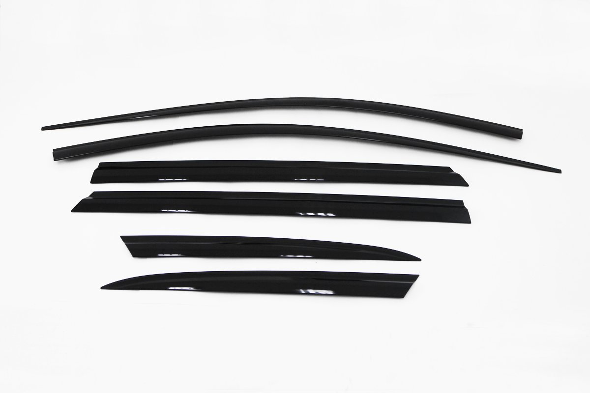 Autoclover Window Visors 6pcs for 2017 2018 Hyundai Santa Fe XL (7-passenger seat)
