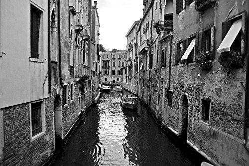 Home Comforts Laminated Poster Venice Great Channel Bridge Channel Black and White Poster Print 11 x 17