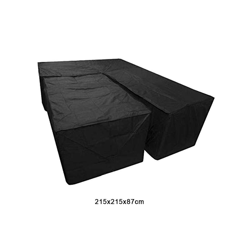 per esterno Copertura per mobili in rattan ad angolo resistente alla polvere Copri set da tavolo per divani pati Coperture per mobili da giardino a forma di L Copertura per set da pranzo impermeabile