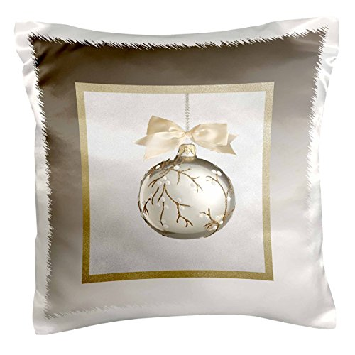 3dRose pc 98795 1 Christmas Ornament Silver Pillow