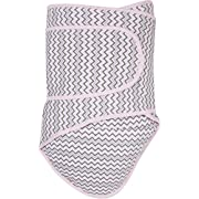 Miracle Blanket Swaddle, Chevrons with Pink Trim