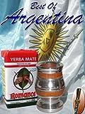 ARGENTINA MATE KIT: Southamerican wood with alluminum base + Metal Nickel straw (w/filter) + Yerba Mate Herb Tea