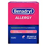 Benadryl Allergy 60 Packets 2 Tablets (Each 1 Box), 120 Count