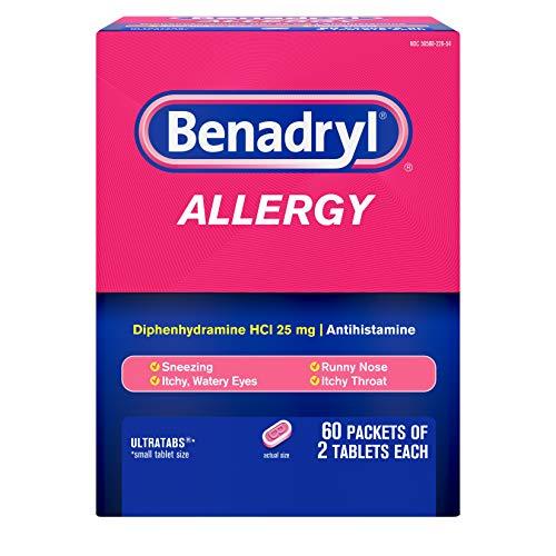 Benadryl Allergy 60 Packets 2 Tablets (Each 1 Box) ()