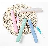 4 Pack Travel Toothbrush Case, NEXCURIO Portable