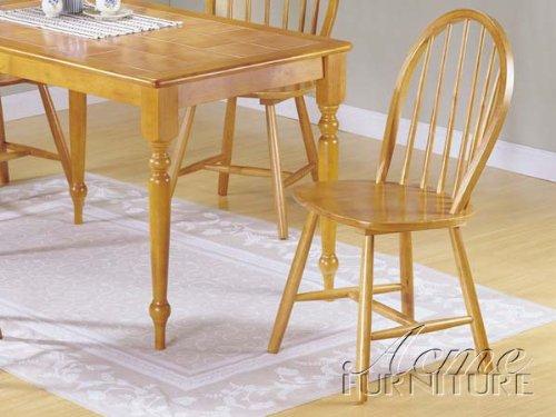 ACME 02613Oak Set of 4 Farmhouse Spindle Side Chair, Oak Finish