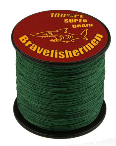 Dark Green super strong PE braided fishing line (1000M, 60LB)