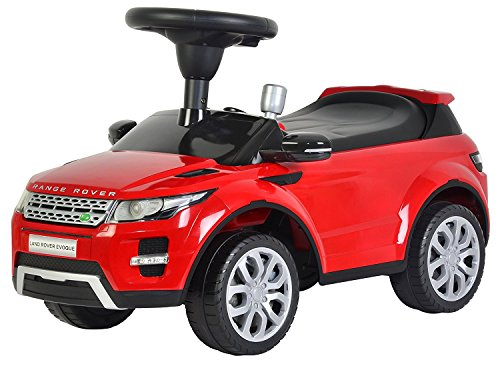 Evezo Range Rover Evoque Ride-On Push Car, (Red Range Rover)