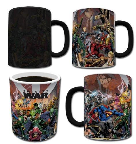 Morphing Mugs DC Comics Trinity Wars Ceramic Mug, Black