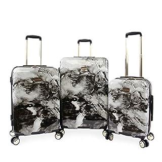 3-pc Hardside Spinner Luggage Set Black Two-Tone Polycarbonate