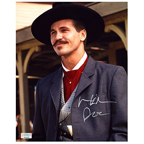 Val Kilmer Autographed Doc Holiday 8×10 OK Corral Portrait Photo