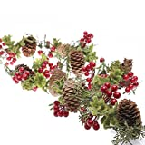 Factory Direct Craft Mossy Artificial Mistletoe and Cedar Garland for Holiday and Home Decor