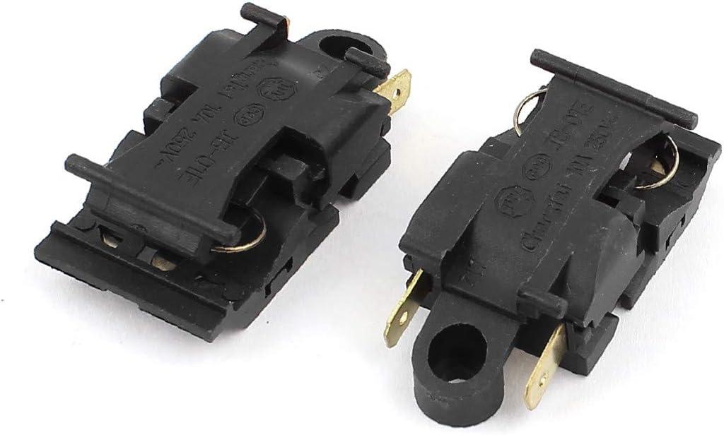 X-DREE Caldera eléctrica AC alto rendimiento 250V 10A Interruptor esencial de control de bien hecho la temperatura del termostato 2pcs(84d-0b-6e-51b)